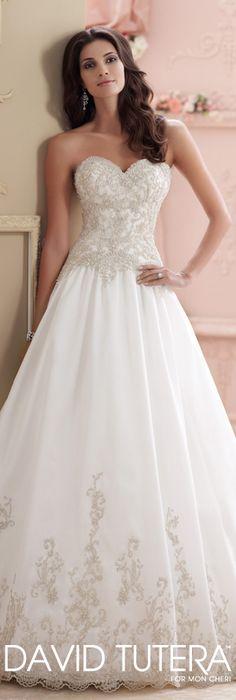 The David Tutera for Mon Cheri Spring 2015 Wedding Dress Collection - Style No. 115238 Wynter   davidtuteraformoncheri.com  #weddingdresses