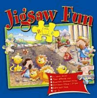 Six Bible story jigsaws to make: 1. Noah and his great big enormous ark; 2. Moses leads his people to safety; 3. Little David fights a giant; 4. Daniel and the hungry lions; 5. Jonah and the great fish; 6. The kind shepherd and the lost sheep.