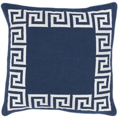 Key Pillow in Navy & White design by Beth Lacefield ($46) ❤ liked on Polyvore featuring home, home decor, throw pillows, pillows, navy accent pillows, navy blue home accessories, dark blue throw pillows, white accent pillows and white home decor
