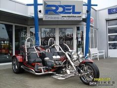 three seat harley trike | 2011 Boom Fighter X 12 Family 3 seater sellers Motorcycle Trike photo