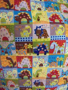 Dinosaur  Cotton Fabric 1 Yard,Patchwork Print,So Cute by susiesfabrics on Etsy