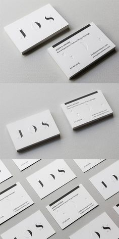Clever Use Of Texture And Typography On A Black And White Business Card For A Brand Event Manager