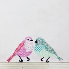 The Pink Doormat: Washi Tape Birds