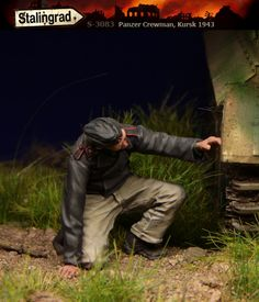 Panzer Crewman in 1/35 scale resin from Stalingrad Miniatures. Now in stock!