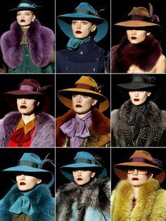 hats hats hats... and lots of berets!!!  (adoro chapéus e boinas!!!!)