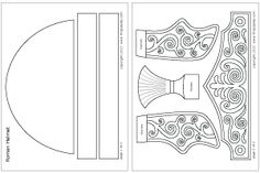 Ready-to-color Roman Imperial helmet template