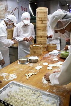 Din Tai Fung Elves Churning Out their Famous Xiao Long Bao in Taipei