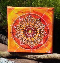"Acrylmalerei - Mandala Bild ""Tamani"". - ein Designerstück von PetiteMaman-Atelier bei DaWanda"