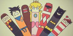 DIY marque-pages / DIY Bookmark Harry potter, charlie, mario, batman...