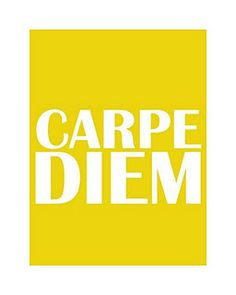 carpe diem, seize the day, make your life extraordinary