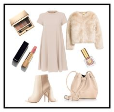 """""""Untitled #3"""" by cardashian ❤ liked on Polyvore featuring 'S MaxMara, Charlotte Russe, Chanel, Estée Lauder, Clarins and Lancaster"""