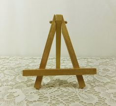 Gold Mini Easel, Small Painted Wood Tabletop Easel, Miniature Wood Easel For…