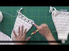 Bikinis Crochet, Crochet Bra, Crochet Bikini Pattern, Crochet Tote, Crochet Crop Top, Crochet Diagram, Crochet Clothes, Crochet Patterns, Free Crochet