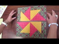 PATCHWORK PINWHEELS VARIACION DE MOLINO   Instructions are in Spanish, but pretty easy to follow, even if you don't speak the language! Great video tutorial!