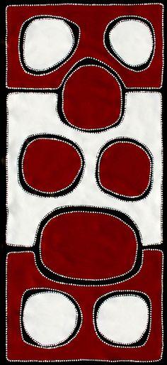 Aboriginal Artwork by Sally Clark. Sold through Coolabah Art on eBay. Cataogue ID 17235