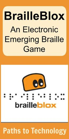 BrailleBlox: An Electronic Emerging Braille Game Phonics Games, Spelling Activities, Tools For Teaching, Student Teaching, Visually Impaired Activities, Braille Reader, Phonetic Sounds, Communication Activities, Visual Impairment