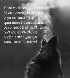 Y entre besos y abrazos, él se convirtió en lobo y yo en luna. Nos queríamos con locura pero nunca el destino nos dio el gusto de poder estar juntos.. ❣