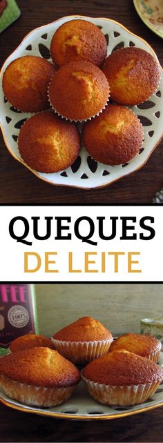 Going to invite friends for snack and want to prepare something light and delicious? Make these tasty milk muffins, they are easy to prepare, have excellent presentation and can be served with tea or coffee. Food Cakes, Portuguese Recipes, Latest Recipe, Yummy Cakes, Bon Appetit, Baked Goods, Cake Recipes, Muffins, Food And Drink