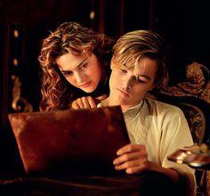 "Kate Winslet as Rose DeWitt Bukater and Leonardo DiCaprio as Jack Dawson, ""Titanic"", 1997"