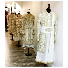 Here's a look at our exquisite collection of chola sherwani's inspired by the Mughal era!! These pieces are so regal...they are fit for a king! All of our pieces are customizable to meet your requirements and personal style! Email us at sales@wellgroomed.ca Out of the country? We've got you covered! We offer phone and skype consultations as well! ---------------------------------------------------------------------------------------------------------------------------- Drop by one of our…
