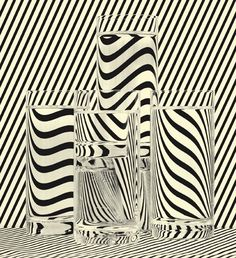 This painting shows line because it outlines the cup and creates illusion as your eyes follow those lines. These lines pop up and cause a cool effect.