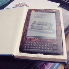 i love this idea for an e-reader case made from an old book