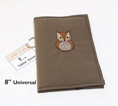 iPad Mini, Samsung Galaxy, LG G Pad, Nexus 7, Kindle eReader, Tablet Cover OWL Embroidery Green Fabric - pinned by pin4etsy.com