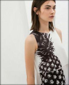 Zara Pineapple Combined T-Shirt Pineapple Top, Pineapple Print, Antonina Vasylchenko, Zara New, Ideias Fashion, Style Inspiration, T Shirts For Women, Tank Tops, Fruit Punch