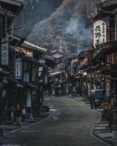 Post town of Narai along the Nakasendo Trail, Kiso. - Post town of Narai along the Nakasendo Trail, Kiso. Aesthetic Japan, Japanese Aesthetic, Japanese Landscape, Japanese Architecture, Street Photography, Landscape Photography, Travel Photography, Japon Tokyo, Nagano Japan