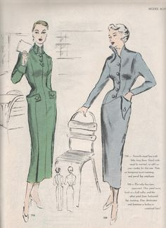 Vintage drawing fashion sewing patterns 69 Ideas for 2019 Vintage Fashion 1950s, Fashion Illustration Vintage, Vintage 1950s Dresses, Vintage Mode, Retro Fashion, Vintage Ladies, Vintage Outfits, Sewing Clothes Women, 1950s Clothes
