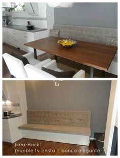 Ikea-Hack: Cómo convertir un mueble de TV Besta en un banco elegante
