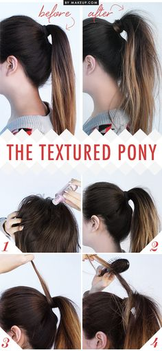 How to do a textured ponytail