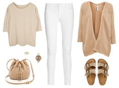 White jeans and neutral everything else... new post on www.flipandstyle.com