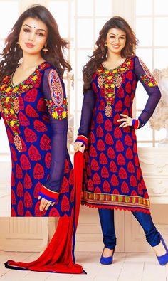 IBV123420 Ayesha Takia Unstitched Suit Fabric - IndiaBazaarOnline Shopping Store