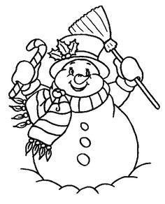 Dibujos para colorear de Muñecos de Nieve en navidad, Plantillas para colorear de Muñecos de Nieve en navidad