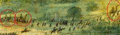 Динозавры еще в 16 веке в войнах принимали участие.  Картина «Самоубийство Саула» художника Питера Брейгеля Старшего, 1562 года, тому прямое подтверждение. На ней, среди прочего войска, изображены всадники верхом на динозаврах! (Сергей Изофатов).