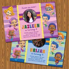 Bubble Guppies Party Invitations by jayarmada on Etsy