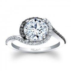 Black Diamond Engagement Ring 8031LBKW