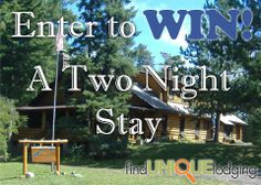 Want to win a two night stay on the gunflint trail in beautiful MN? Email us a picture of your favorite lakeside photo to pictures@findunique.com. We will post it to our Facebook page and then have your friends, family, and even the mail man like the photo to vote. For rules see http://blog.findunique.com/summer-sweepstakes/#more-84