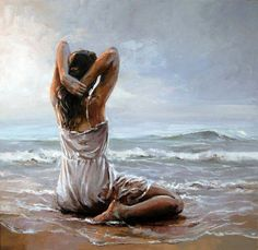 An Original Fine Art Gallery by Daily Paintworks Fantasy Kunst, Fine Art, Beach Art, Beautiful Paintings, Figure Painting, Figurative Art, Female Art, Amazing Art, Cool Art