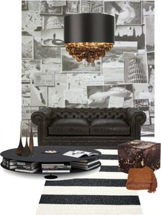 """""""Masculine space..."""" by gloriettequartet on Polyvore"""