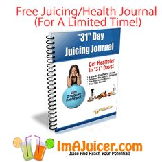 Grab this free Journal today! It's full of juicing tips and a great way to track your juicing goals and success!