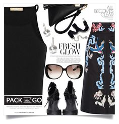 """""""Pack and Go: Labor Day"""" by aislinnhamilton1993 ❤ liked on Polyvore featuring Michael Kors, Temperley London, Gucci, Sweet Romance, Packandgo and laborday"""