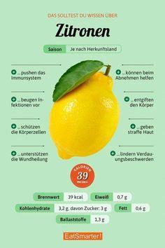 You should know about lemons eatsmarter.de # nutrition You should know about lemons eatsmarter. Diet And Nutrition, Sport Nutrition, Nutrition Education, Art Education, Special Education, Nutrition Guide, Complete Nutrition, Nutrition Websites, Nutrition Quotes