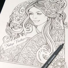 Hello friends! I read your feedback and suggestions for a new book. You often ask to draw more beautiful portraits of the girl (princess, fairy, sorceress). Yes, I also think that beautiful faces are very nice for coloring.  Have a nice day, friends!  www.nadiyavasilkova.com #coloringpage #mystaedtler #coloring #coloringbook #coloringforadults #coloringbookforadults #adultcolouring #colorfy #adultcolouringbook #coloredpencil #adultcoloringbookapp #colortherapy #colortherapyapp…
