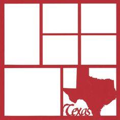 Texas State 12 x 12 Overlay Laser Die Cut