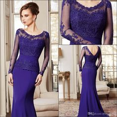 2014 Vintage Mother Of The Groom Dresses Long Sleeve Scoop Neckline Sweep Train Lace And Taffeta Navy Blue Mum'S Gowns Elegant Navy Mother Of The Bride Dresses Plus Size Mother Of Bride Dresses From Kiss_dress, $95.48| Dhgate.Com