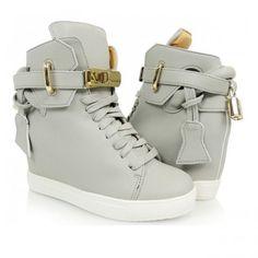 damske-clenkove-topanky-sivej-farby (1) Designer Shoes, Modern Design, Wedges, Sneakers, Fashion, Tennis, Moda, Slippers, Fashion Styles