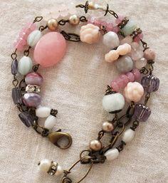 Trinity Treasure Bracelet - I like the colors, and the variety of shapes.