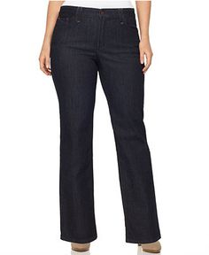 Not Your Daughter's Jeans Plus Size Jeans, Hayden Tummy Slimming Boot Cut Dark Wash - Plus Size Jeans - Plus Sizes - Macy's